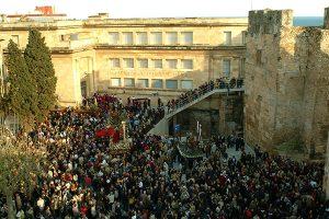 Plaça del Rei any 2003. Foto: Pere Amenós