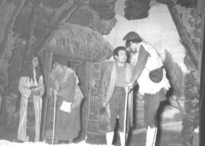 Barrufet, Martínez, Fort i Mulet a la cabana de Getsé.