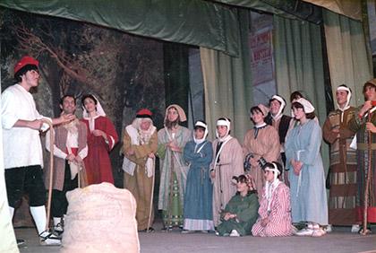 D'esquerra a dreta, Joan M Ferré, Josep M tuset, Maria Ardèvol, Antoni Guerra, Albert Andreu.... Jaume Andreu, Quim Ballarín i Moisès Bardolet. (84-87)
