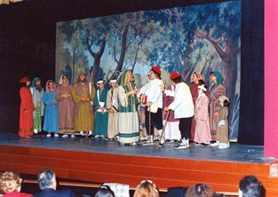 La nova boca de l'escenari del Metropol. Pastors de la temporada de reapertura 95-96