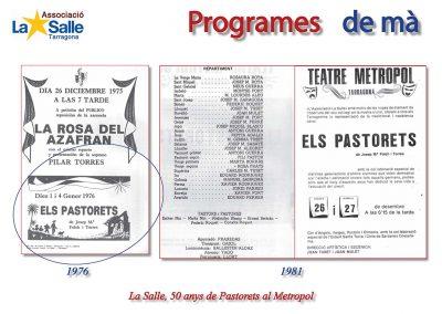 Programes de mà 1976 i 1981