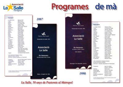 Programes de mà 1997 i 1998